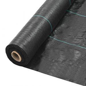 VidaXL Toile de paillage PP 2 x 25 m Noir