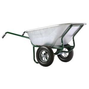 Haemmerlin 306255701 - Brouette Expert Twin galva roues gonflées 230 L