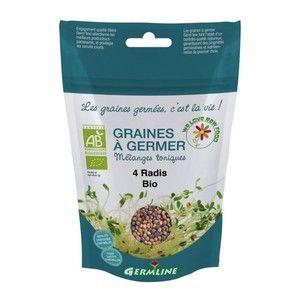 Germ'line Graines à Germer Bio 4 RADIS 100g
