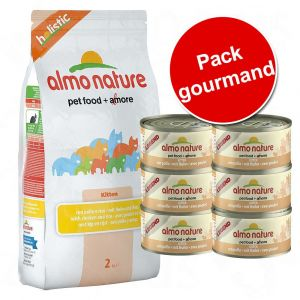 Almo Nature Croquettes chat adulte - Poisson blanc & Riz 2kg