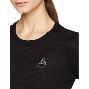 Odlo T-shirt Manches Longues Natural 100% Merino Warm - Noir Noir - Femme