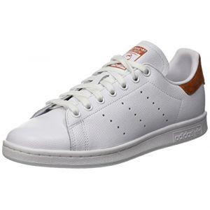 Adidas Stan Smith, Chaussures de Tennis Homme, Blanc FTWR White/Fox Red B38040, 44 2/3 EU