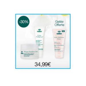 Nuxe Coffret Visage Crème Prodigieuse 40ml + Masque Purifiant Doux 50ml + gelée Exfoliante Douce 75ml Offerte