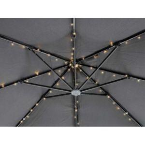 Kaemingk Guirlande solaire 72 Led pour parasol - Blanc chaud