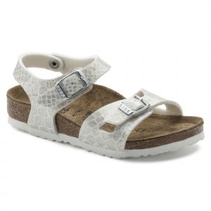 Birkenstock Rio, Sandales Bride Arriere Filles, Blanc (Noir Magic Snake White Noir Magic Snake White), 33 EU
