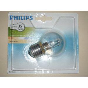 Philips 925647444202 - Ampoule Eco-Halogène Sphérique Culot E27 28 Watts consommés (Equivalence incandescence 35W)