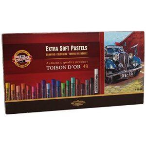 Koh-I-Noor TOISON D'OR 8556 Crayons Pastels Extra Doux pour l'Artiste