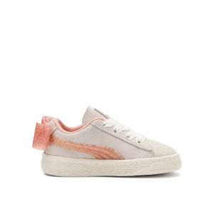 Puma Baskets basses enfant INF SUEDE BOW JELLY AC.WHI Beige - Taille 19,21,22,23,24,25