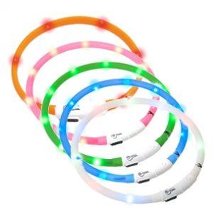 Trixie Flash anneau lumineux usb - L-XL: 65 cm/ø 7 mm, rose