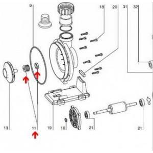 Procopi 595029 - Garniture mécanique Ø15 mm de pompe Iris