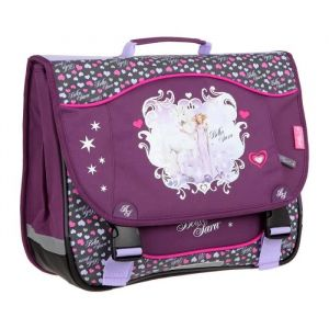 Kid'abord BELLA SARA Cartable - 2 Compartiments - 38 cm - Violet - Primaire - Enfant Fille - Polyester - Fermeture tucks - Violet - 2 compartiments -Dimensions : 38 x 15 x 32 cm