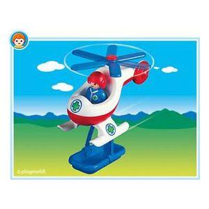 Playmobil 6738 - 1.2.3 : Pilote et hélicoptère de sauvetage