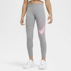 Nike Leggingà motif Sportswear Favorites pour Fille plus âgée - Gris - Taille XS - Female