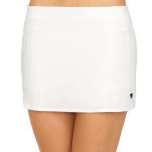 Wilson Femme Jupe de Tennis, W Team 12.5 Skirt, Polyester/Spandex, Blanc, Taille M, WRA766201