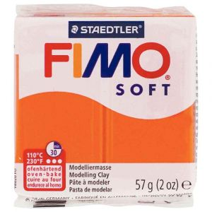 Fimo Pate a cuir Soft 58 g / Orange Ecole