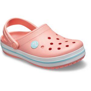 Crocs Crocband Clog, Sabots Mixte Enfant, Rose (Melon/Ice Blue) 34/35 EU