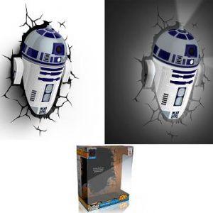 Applique 3D Deco Light R2-D2 Star Wars