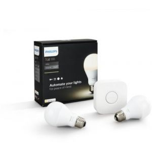 Philips Hue E27 - Kit de démarrage 9.5W blanc chaud