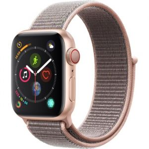 Apple Watch Series 4 + Cellular - 40mm - Alu Or / Boucle Sport Rose des sables