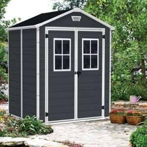 Keter Abri de jardin en résine Premium 65 DD 2,8m² - Anthracite - En résine - Esthétique et étanche