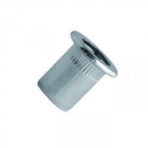 Scell-it TCD1030 - Ecrou aveugle cranté acier tête plate Ø 10-30