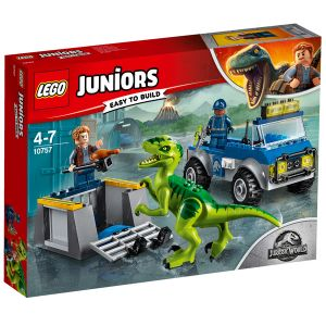 Lego Juniors Jurassic World 10757 - Le camion de secours des raptors