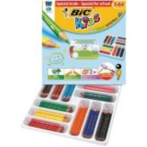 Bic 857261 - Classpack de 144 Crayons de couleur Evolution assortis
