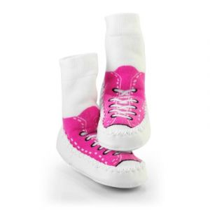 Sock Ons Chausson chaussette Mocc'ons basket rose (12-18 mois)