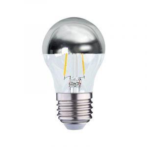 Vision-El Ampoule LED COB A FILAMENT 4W (35W) E27 Blanc chaud 2700°K G45 Argent