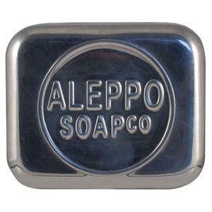 Aleppo Soap Co Boite à savon rectangulaire en métal et couvercle