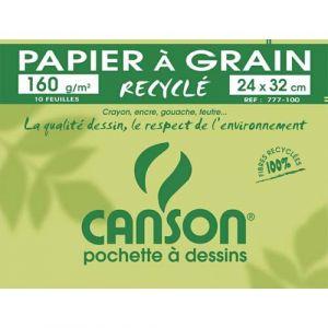 Canson 777100 - 10 Feuilles de papier dessin 160 g (A4+)
