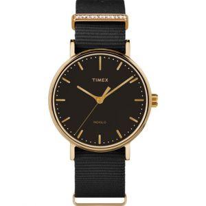 Timex TW2R49200D7 - Montre pour femme avec bracelet en tissu