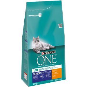 Purina Croquettes chat One Senior 7+ Poulet Contenance : 1,5 kg