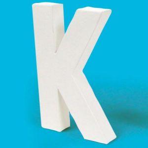 decopatch AC710C - Lettre K 20,5cm, en carton pelliculé peint