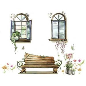 Wellindal Sticker Décoratif Window And Bench-