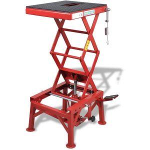 VidaXL Table élévatrice rouge 135 kg