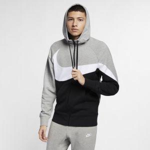 Nike Sweat à capuche en molleton entièrement zippé Sportswear pour Homme - Gris - Couleur Gris - Taille M