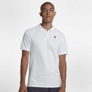 Nike Polo de tennis Court pour Homme - Blanc - Taille L - Homme