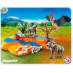 Playmobil 4829 - Couple de hyènes et vautour