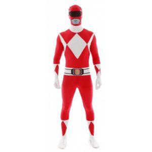 Déguisement morphsuits Power Rangers rouge adulte