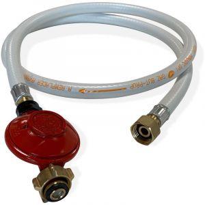 Alice's Garden Kit Tuyau flexible de gaz 1,5 m à embouts mécaniques + Détendeur Propane 37mbar 1,5kg/h %u2013 Normes NF
