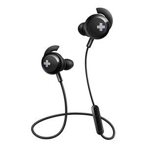 Philips BASS+ SHB4305BK Noir - Ecouteurs intra-auriculaires sans fil