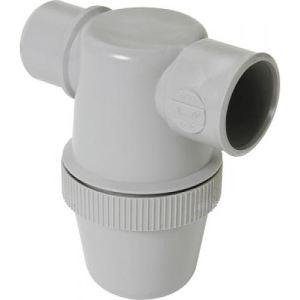 Nicoll YF1C - Siphon de lavabo a coller gris avec entree horizontale Diam. 32 mm