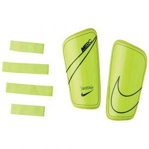 Nike Protège-Tibias Mercurial Hard Shell Slip In - Jaune Fluo/Bleu Foncé - Jaune - Taille Medium/160-170cm