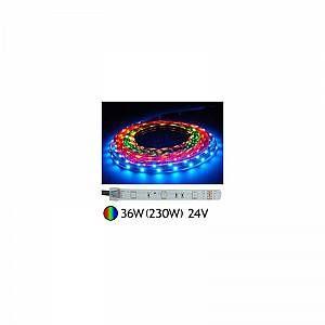 Vision-El Bandeau LED 36W (230W) 24V IP67 (Gaine silicone) RGB (multi couleurs)