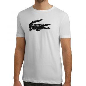 Lacoste Sport TH3377 T-Shirt Homme Blanc (Blanc/Noir Au8) Small (Taille Fabricant:3) Lot de