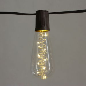 Cemonjardin Guirlande lumineuse solaire 10 ampoules Edison
