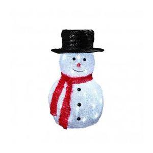 Bonhomme de neige lumineux avec chapeau 40 LED (36 cm)