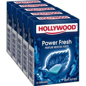 Hollywood Chewing gum sans sucre menthe forte