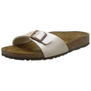 Birkenstock Madrid - Mules - Mixte Adulte - Beige (Graceful Pearl White) - 35 EU